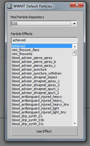 Get particle system menu
